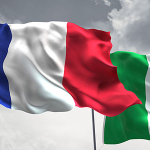 French and Italian Flags