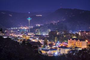 Gatlinburg Tennessee at Night