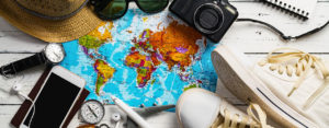 Map and travel items